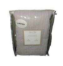 Peacock Alley Cotton Matelasse Standard Pillow Sham Grey  NWT FREE SHIPPING - $29.69