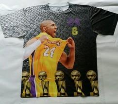 Kobe Bryant Black Mamba T Sublimated shirt los angeles lakers west basketball - $33.99