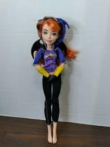 "12"" Red Hair DC Comics Batgirl Purple Hoodie Black legging Wings Doll - $9.89"