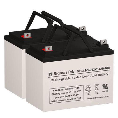 Optiway Technology 1704FS Replacement Battery Set By SigmasTek - GEL 12V 32AH NB