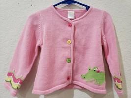 NWT Gymboree Vintage Girls Pink Alligator Sweater Size 18-24m - $14.99
