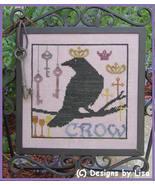 Royal Crow cross stitch chart Designs by Lisa - $6.30