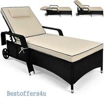 Luxury Garden Recliner Sunlounger Outdoor Patio Chair Adjustable Back Po... - $205.78