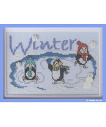 Winter On Penguin Pond cross stitch chart Designs by Lisa - $6.30