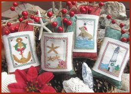 Seaside Christmas cross stitch chart Designs by Lisa - $7.20