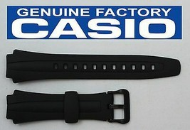 CASIO AQ-163W 17mm Original Black Rubber Watch BAND Strap  AQ-163WG AQ-160W - $14.95