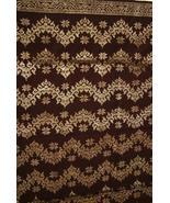 Older Metallic Gold Burgundy Red Embroidery Bro... - $386.09