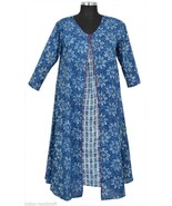 10 Cotton Long Dress Tunic Women's Top Hand printed Kurtis India Wholesa... - $113.05