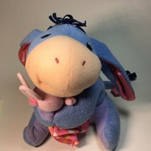 Fisher Price Disney My First Eeyore Holding Pink Bunny Plush Baby Rattle - $17.26 CAD