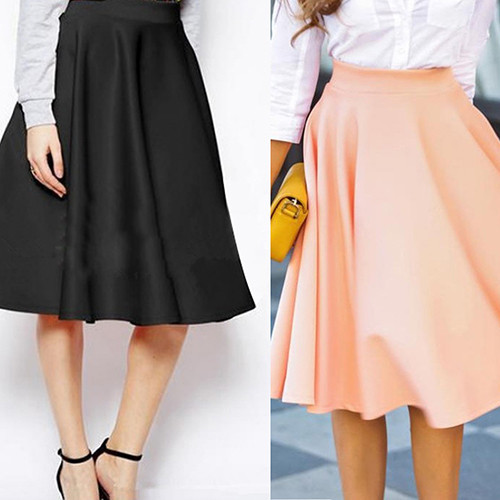 Women Summer High Waist Long A Line Pleated Midi Skirt Office Ball Skirts New Ar for sale  USA