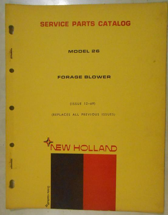 New Holland 26 Forage Blower Parts Manual - $6.00