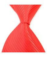 Turkey Red Stripe Silk Classic Woven Man Tie Necktie  112 - $3.99