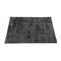 BORDERED SLATE 1600GSM MICROFIBRE ANTI-SLIP BATH MAT 50 X 80CM - $25.78