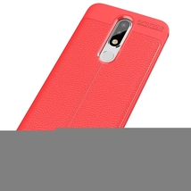 Litchi Texture TPU Case for Nokia 5.1 Plus(X5)(Red) - $6.87