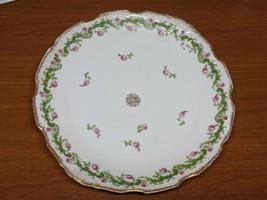 """Limoges France Pink Floral Swag Large Plate 12.5"""" - $11.78"""