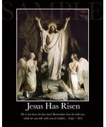 JESUS HAS RISEN Inspirational Picture (8X10) New Fine Art Print Photo Bi... - $6.76