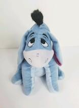 Disney Winnie the Pooh Eeyore Soft Plush Stuffed Animal Seated Doll 11 i... - $11.30