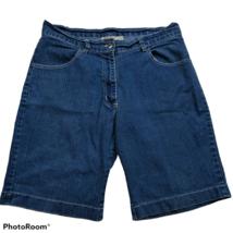 Gold Flava Womens Jean Shorts Size 14 Denim Blue Dark Wash - $23.76