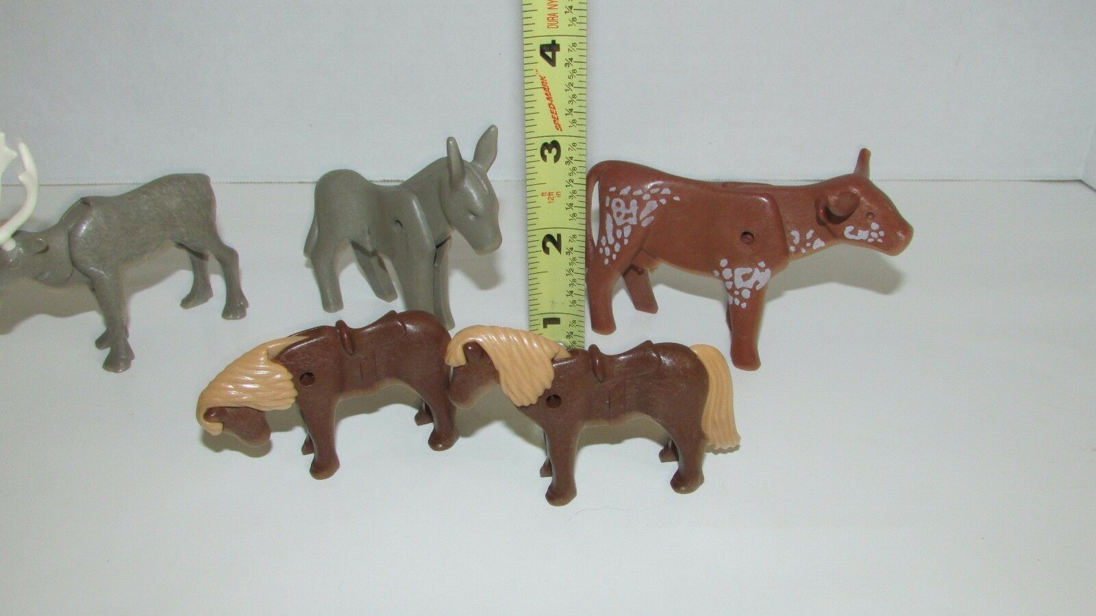 Playmobil animal lot donkey pony bull steer moose or reindeer lot