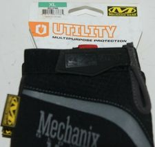 Mechanix Wear 911745 Utility Multipurpose Protection Gloves Black Grey XL image 4