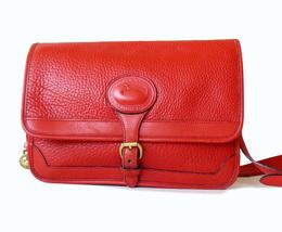 Dooney & Bourke Surrey Watermelon Red AWL Large Messenger Shoulder Bag image 1