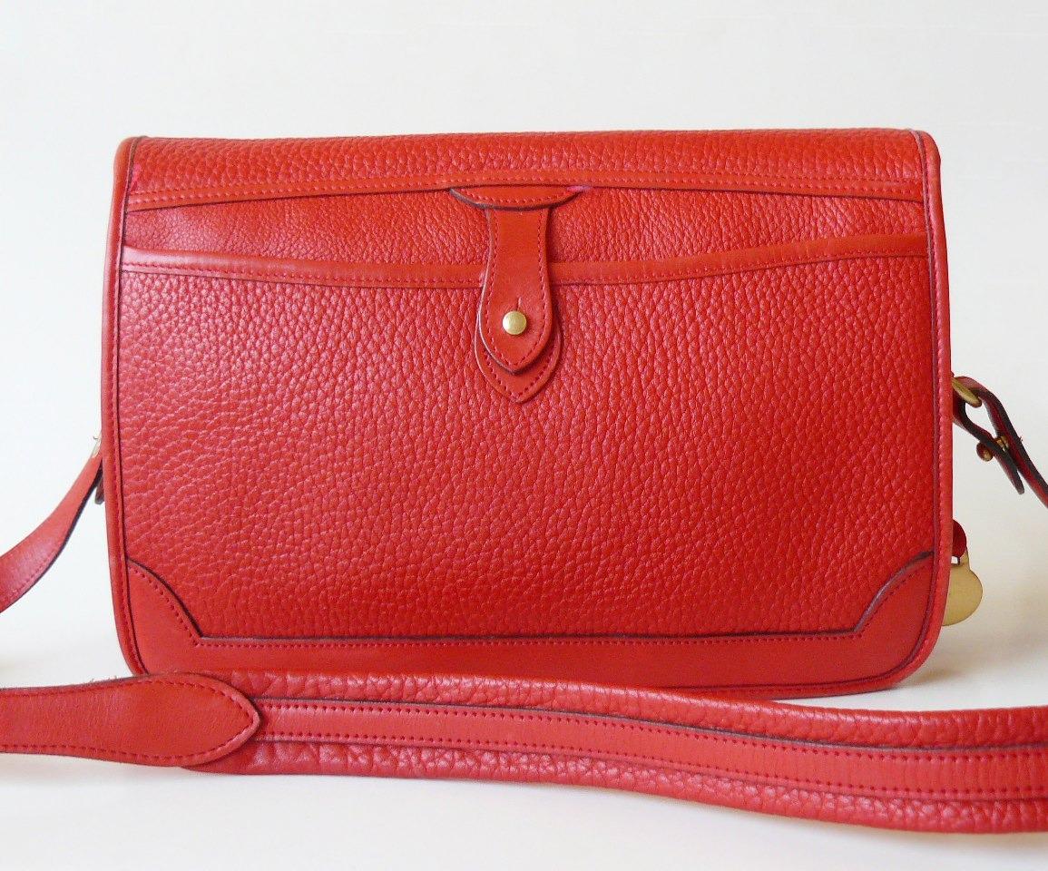 Dooney & Bourke Surrey Watermelon Red AWL Large Messenger Shoulder Bag image 2