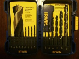 "Irwin 1/16 to 3/8"" Drill Bit Set - $15.00"