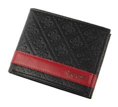 New Guess Men's Leather Credit Card ID Wallet Passcase Billfold Black 31GU13X008 image 4