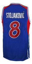Stojakovic Jugoslavija Yugoslavia Basketball Jersey New Sewn Blue Any Size image 2
