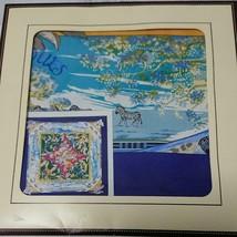 "Hermes Scarf Tropiques 90 cm Silk Blue Carre Shawl toucan bird 35"" - $414.81"