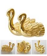 Bathroom Accessories Bath Hardware Set Golden Color Swan Robe hook colot... - $71.97