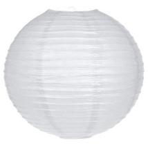 25.4Cm BIANCO Cerchio Rotondo Lanterna di carta paralume FESTA CASA - $3.88+