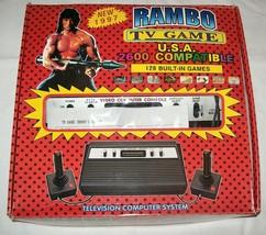 NEW NIB NOS Rambo TV Games Atari 2600 Clone legendary game console 128 Games #05 - $225.00