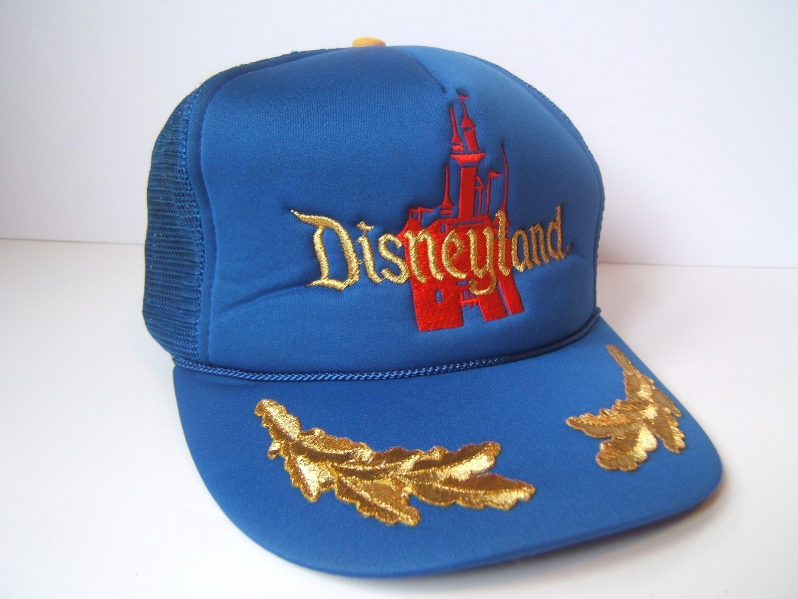 Primary image for Vintage Disneyland Hat Blue Disney Snapback Trucker Cap