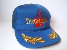 Vintage Disneyland Hat Blue Disney Snapback Trucker Cap - $30.74