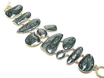 Br28 black epoxy coating toggle bracelet