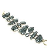 Black Marble Epoxy Finish Toggle Bracelet BR28 - $4.99