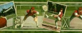 Green Baseball Player Wallpaper Border Norwall Wallcoverings BW77438B - $16.99