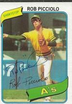 Rob Picciolo 1980 Topps Autograph #158 A's - $18.58
