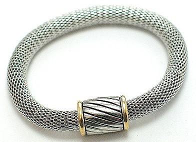 Br33 yurman silver magnetic bracelet