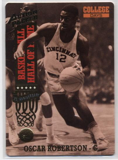 1993 ACTION PACKED BASKETBALL~OSCAR ROBERTSON~NEAR-MINT Bonanza