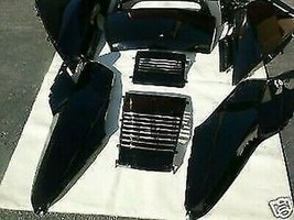 Set Schwarz Honda Helix Cn250 Fusion Cn 250 Roller Obere Paneele - $199.15