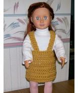 American Girl Crocheted Gold Jumper, Handmade, OOAK, 18 Inch Doll - $22.00
