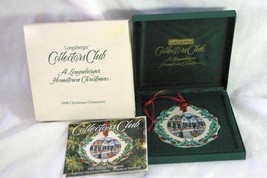 Longaberger 1998 Add A Little Charm To Your Holidays Christmas Ornament In Box - $6.29