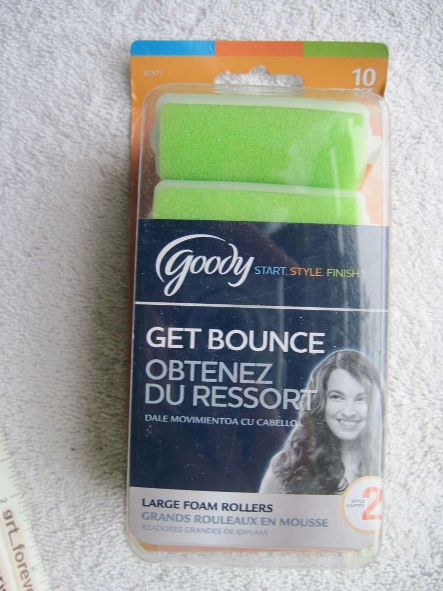 8 Goody Go Curl Large Foam Rollers Hair Curlers Roll Damp Style Tousled Bounce