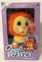 1985 Mattel Angel Bunny Lion Cuddle King Plush New In Box Baby Lovey - $197.99