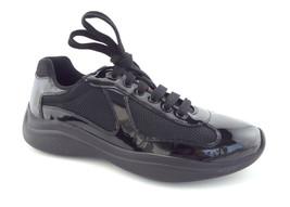 New Men's PRADA Size 7 America's Cup Black Patent Lace Up Sneakers Shoes... - $449.00