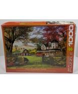 EuroGraphics Old Pumpkin Farm Jigsaw Puzzle 1000-Piece ship damage to box - $24.67