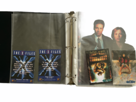 X-Files Trading Card Lot Binder Press Photo 1998 Fireman Figure Series 1 Scully image 5