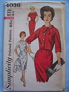 Stylish 1960's Dress & Jacket Vintage Pattern - 12/32 Bonanza